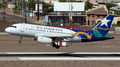 N822AW - Airbus A319-132 - US Airways