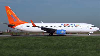 C-GOWG - Boeing 737-86J - Sunwing Airlines