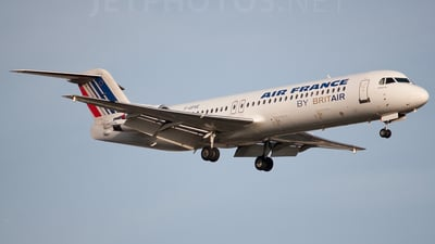 F-GPXE - Fokker 100 - Air France (Brit Air)