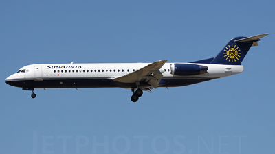 9A-BTD - Fokker 100 - SunAdria (Trade Air)