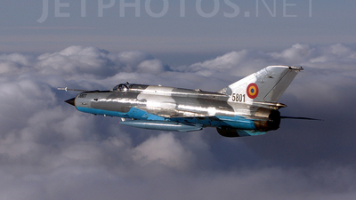 5801 - Mikoyan-Gurevich MiG-21MF Lancer C - Romania - Air Force