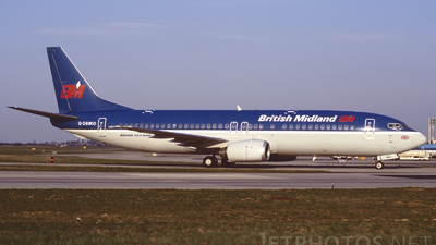 G-OBMO - Boeing 737-4Q8 - bmi British Midland International