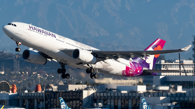 A picture of N384HA - Airbus A330243 - Hawaiian Airlines - © Ricky Teteris