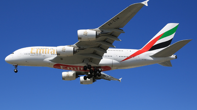 A picture of A6EOM - Airbus A380861 - Emirates - © Jonathan Kang