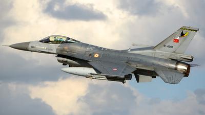 91-0001 - General Dynamics F-16C Fighting Falcon - Turkey - Air Force