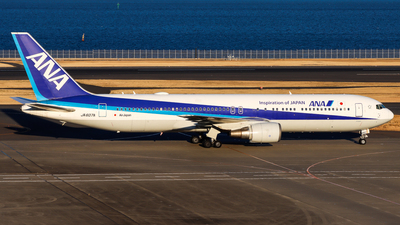 A picture of JA607A - Boeing 767381(ER) - All Nippon Airways - © Chow Kin Hei