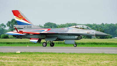 J-508 - General Dynamics F-16A Fighting Falcon - Netherlands - Royal Air Force