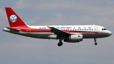 A picture of B6185 - Airbus A319133 - Sichuan Airlines - © Wanping Chen