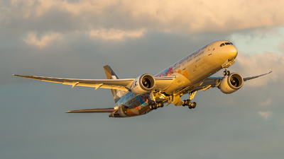 A picture of A6BLO - Boeing 7879 Dreamliner - Etihad Airways - © Haocheng Fang