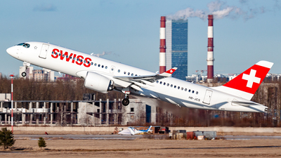 A picture of HBJCS - Airbus A220300 - Swiss - © Jan Syrbo