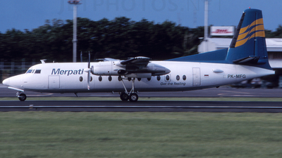 PK-MFG - Fokker F27-500F Friendship - Merpati Nusantara Airlines