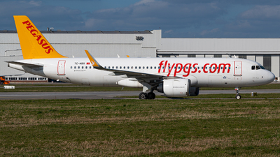 A picture of TCNBR - Airbus A320251N - Pegasus Airlines - © Niclas Rebbelmund