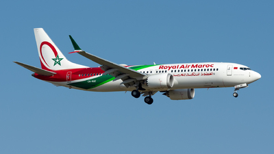 A picture of CNMAY - Boeing 737 MAX 8 - Royal Air Maroc - © Ramon Jordi