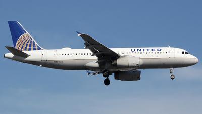 N444UA - Airbus A320-232 - United Airlines