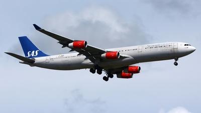 OY-KBI - Airbus A340-313X - Scandinavian Airlines (SAS)
