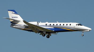 N989H - Cessna 680 Citation Sovereign - Private