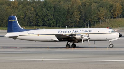 N747CE - Douglas C-118A Liftmaster - Everts Air Cargo