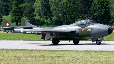 HB-RVJ - De Havilland DH-115 Vampire - Private