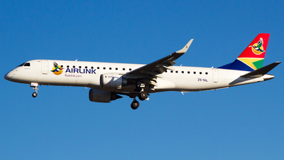 ZS-YAL - Embraer 190-100IGW - Airlink