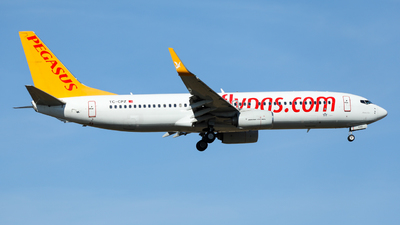 A picture of TCCPZ - Boeing 7378H6 - Pegasus Airlines - © Marvin Knitl