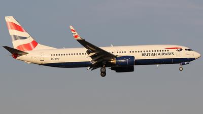 ZS-ZWU - Boeing 737-8BK - British Airways (Comair)