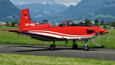 A picture of HBHMU - Pilatus PC7 - [137] - © Mirko Bleuer
