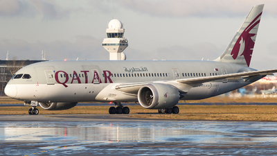 A picture of A7BCN - Boeing 7878 Dreamliner - Qatar Airways - © Witold Salacinski