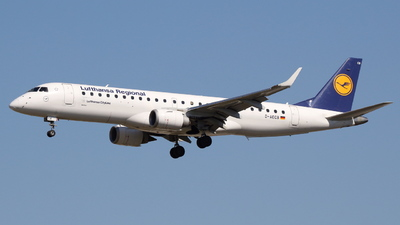 A picture of DAECB - Embraer E190LR - Lufthansa - © F.Wolf