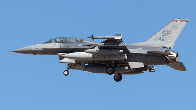 91-0481 - General Dynamics F-16DM Fighting Falcon - United States - US Air Force (USAF)
