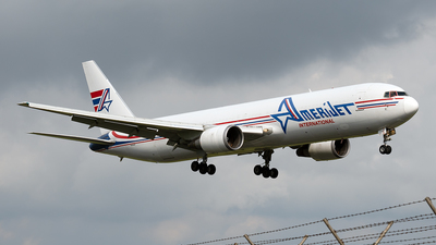 A picture of N373CM - Boeing 767338(ER)(BDSF) - Amerijet International - © Cristian Quijano