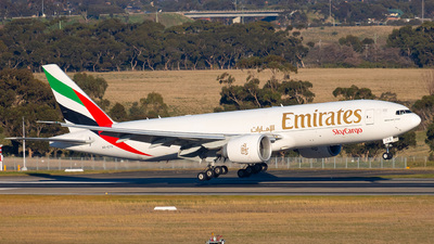 A picture of A6EFO - Boeing 777F1H - Emirates - © Max Getley - melbaviation