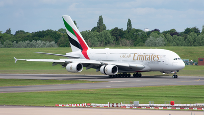 A picture of A6EUN - Airbus A380842 - Emirates - © Owen Wenlock