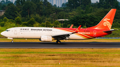A picture of B1939 - Boeing 73787L - Shenzhen Airlines - © Miaomiao