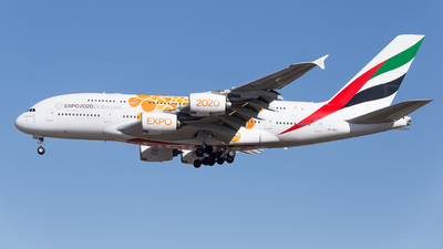 A picture of A6EEA - Airbus A380861 - Emirates - © Ren LanMing