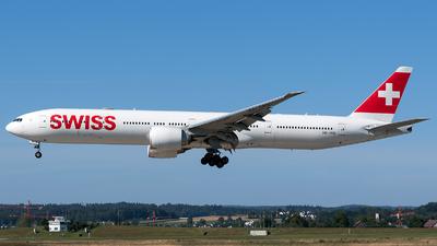 A picture of HBJNG - Boeing 7773DE(ER) - Swiss - © Marco Papa