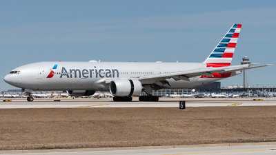A picture of N767AJ - Boeing 777223(ER) - American Airlines - © bill wang