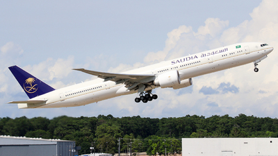 A picture of HZAK40 - Boeing 7773FG(ER) - Saudia - © Roger M