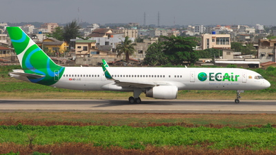 HB-JJD - Boeing 757-236 - ECAir - Equatorial Congo Airlines (PrivatAir)