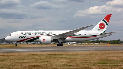N1015B - Boeing 787-8 Dreamliner - Biman Bangladesh Airlines