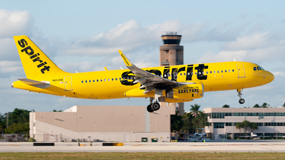 A picture of N653NK - Airbus A320232 - Spirit Airlines - © Mark Lawrence