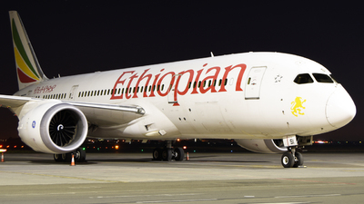 A picture of ETASI - Boeing 7878 Dreamliner - Ethiopian Airlines - © ORTIASpotter