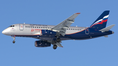 A picture of RA89109 - Sukhoi Superjet 10095B - Rossiya - © SN7756