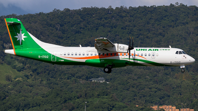A picture of B17012 - ATR 72600 - UNI Air - © jasonhuang626