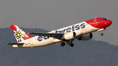 A picture of HBJJN - Airbus A320214 - Edelweiss Air - © Tomasz Habaj