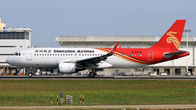 A picture of B8078 - Airbus A320214 - Shenzhen Airlines - © Egg_Shadowsine Aviation