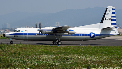 5001 - Fokker 50 - Taiwan - Air Force