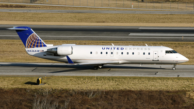 A picture of N436AW - Mitsubishi CRJ200LR - United Airlines - © DJ Reed - OPShots Photo Team