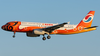 A picture of B6761 - Airbus A320232 - Chongqing Airlines - © ZGGG RWY01