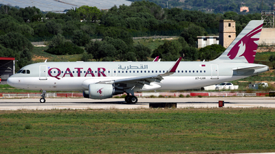 A picture of A7LAA - Airbus A320214 - Qatar Airways - © Javier Rodriguez - Amics de Son Sant Joan
