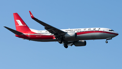 A picture of B7862 - Boeing 73789P - Shanghai Airlines - © Lazy Clutch